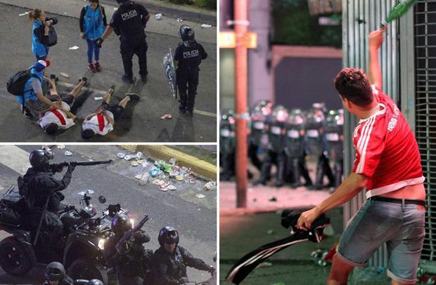 Police Fire Bullets … At Rioting River Plate Fans