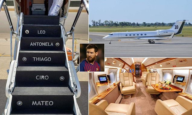 Messi Shows Off £12m Private Jet