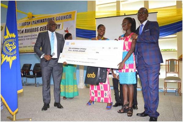UMB Sponsors 2018 Best WASSCE Student