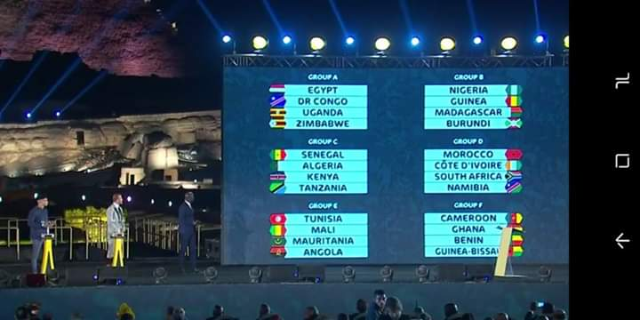 AFCON 2019 Draw: Ghana Faces Cameroon