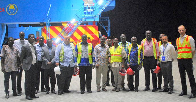 Employment Minister Visits Meridian Port Services