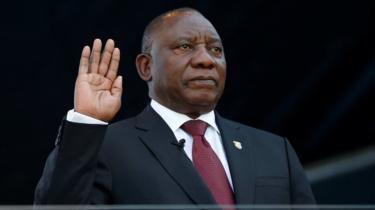 South Africa's Ramaphosa Sworn In