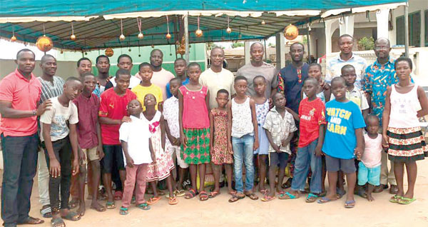 Stars Tech. Team Gives To Teshie Home