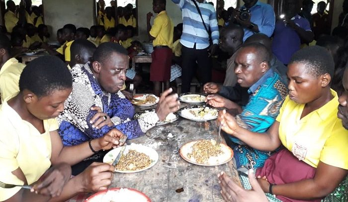 Minister Dines With Free SHS Students