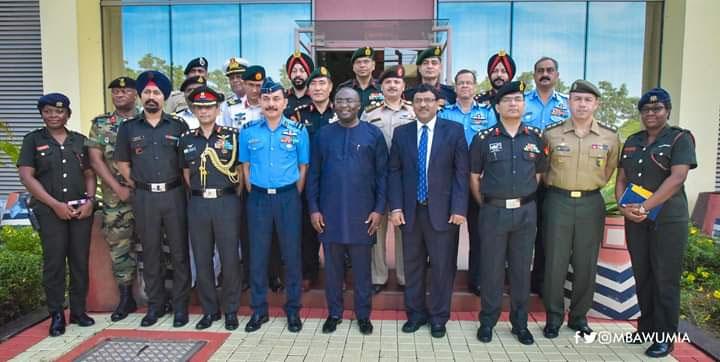 Bawumia Hosts India Military Delegation