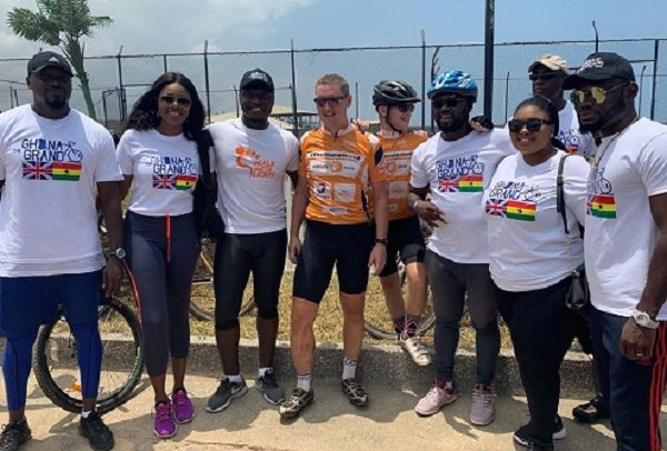 Iain Walker Cycles With Celebrities To Save Lives