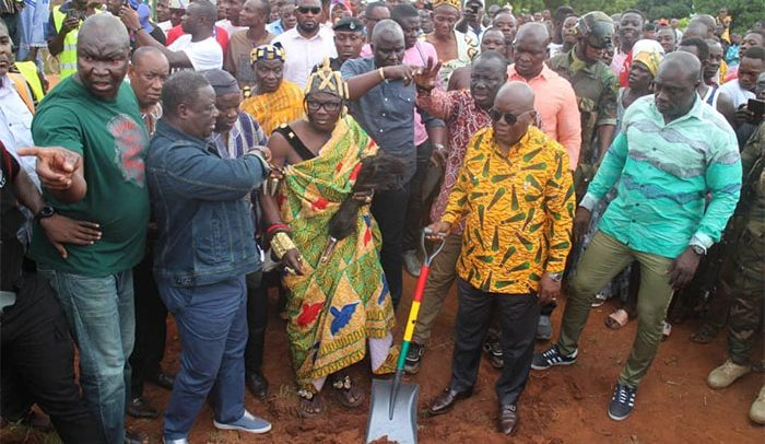 Nana Addo Cuts Sod for GH 54m Kpandai-Salaga Road