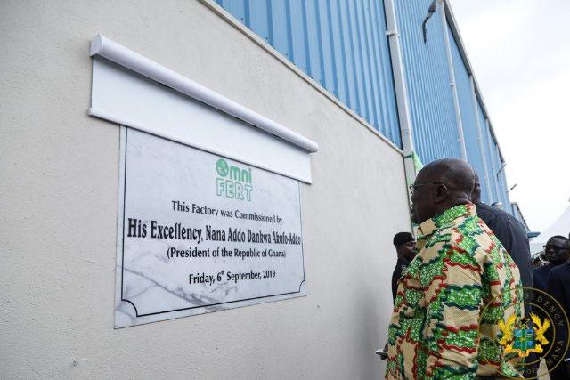 Akufo-Addo Commissions Omnifert Fertilizer Factory