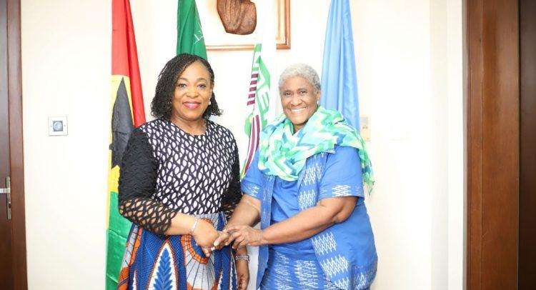 Ex-Liberian Minister Meets Ayorkor Botchwey Over Kofi Annan Project