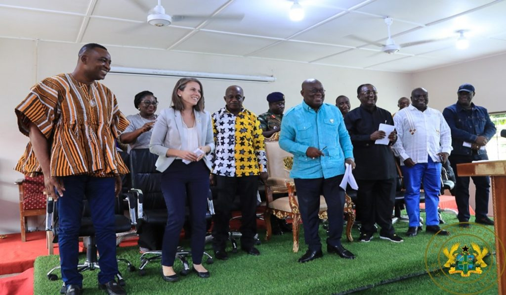Akufo-Addo Commissions Rehabilitated College Of Agriculture; Warehouse In Ejura 1