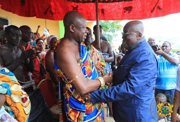 """Posterity Will Applaud You For Free SHS, 1D1F"" – Kumawu Omanhene To Akufo-Addo"
