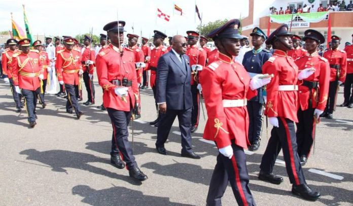 Don't Lower Standards Set By Your Seniors – Akufo-Addo To New Soldiers