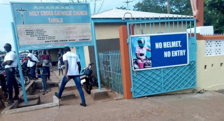 Catholic Church Launches 'No Helmet No Entry' In Tamale