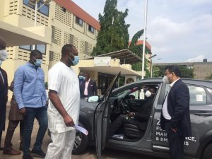 Napo Receives Ghana's First Electric Car. 52