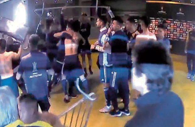 Police Spray Pepper On Boca Juniors