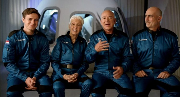 Jeff Bezos returns from Space