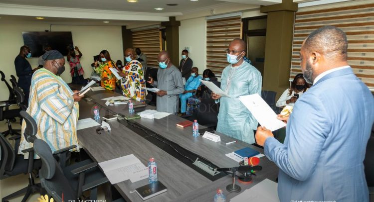 Energy Minister Inaugurates New Ghana Gas Board
