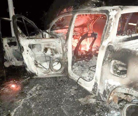 Youth Set Customs Car Ablaze