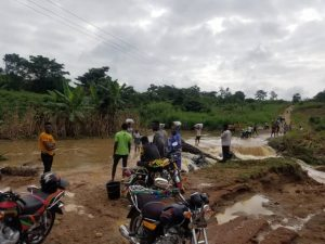 Residents Stranded Following Collapse of Aboabo Bridge 1