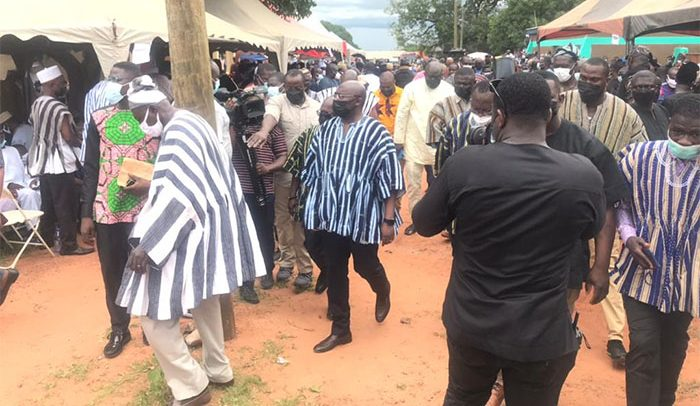Bawumia Mother's Funeral Underway