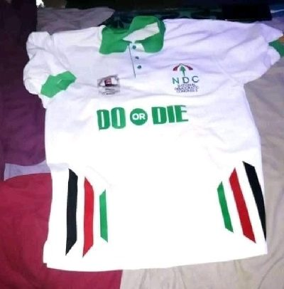 """NDC unveils Mahama's """"do or die"""" T-shirts"""