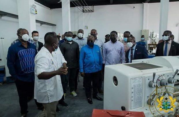 President Akufo-Addo Commission Engineering Workshops At Cape Coast Technical University