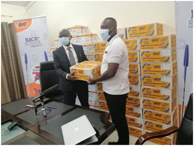 BIC Gives 70,000 Pens To GES