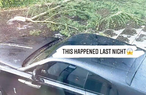 Pogba's £300K Rolls Royce Escapes Tree Smash