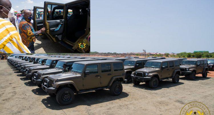 Nana Gives More Vehicles To Army