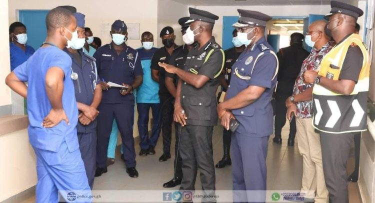 Dampare Visits Walewale Injured Cops