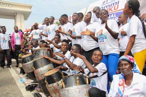 Delegates from the Volta Region doing the Borborbor dance