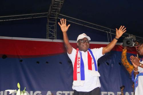 Freddie Blay after being declared Chairman of the NPP.