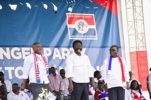 From left, Mr. Stephen Ayensu Ntim, Dr. Richard Amoako Baah and Freddie Worsemao Blay.
