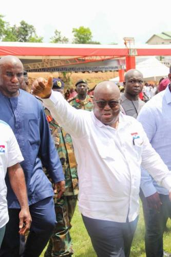 President Akufo-Addo entering the conference grounds